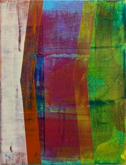 """Triad 2018, Acrylic on Canvas Over Panel 12"""" x 9"""""""