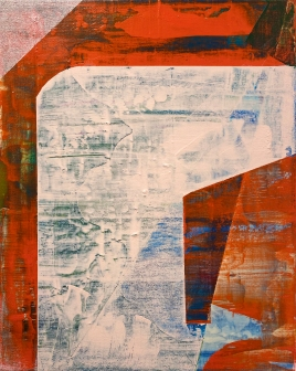 "Zero Point 2019 Acrylic on Canvas Over Panel 14"" x 11"""